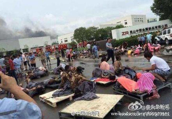 Algunos heridos se encuentran en situación grave. (Foto: People's Daily)