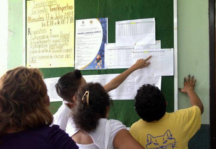 [Las escuelas tuvieron desde el 15 de junio y hasta ayer para que, por medio de su consejo técnico, definieran el calendario de su preferencia y la reportaran a la Segey. (Archivo/SIPSE)