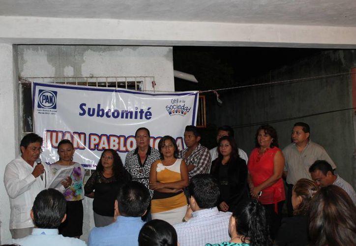 Se renueva el comité panista en el fraccionamiento Juan Pablo II de la capital yucateca. (Cortesía)
