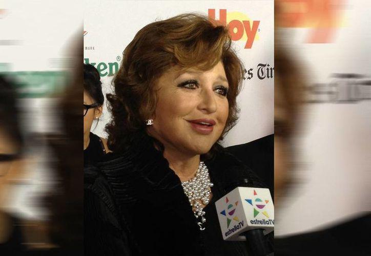 """La actriz y cantante Angélica María, """"La Novia de México"""", fue reconocida con el premio Leyenda. (Notimex)"""
