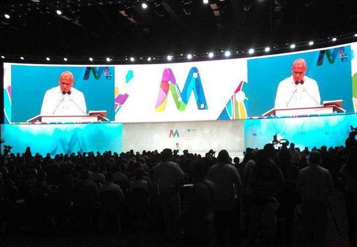 La reunión se lleva a cabo en el Centro de Convenciones de Cancún. (Redacción/SIPSE)