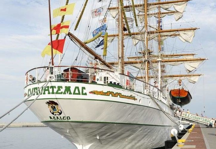 El buque-escuela de la Armada de México Cuauhtémoc arribó a Polonia el pasado 17 de agosto. (excelsior.com.mx)