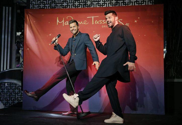 Ricky Martin dijo estar 'realmente impresionado' con su figura de cera en un museo de Las Vegas. (Foto: AP)