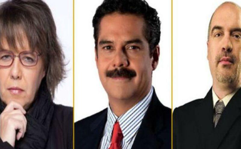 Gabriela Warkentin, Javier Alatorre y Carlos Puig serán los moderadores para el tercer debate presidencial. (Foto: Proceso)