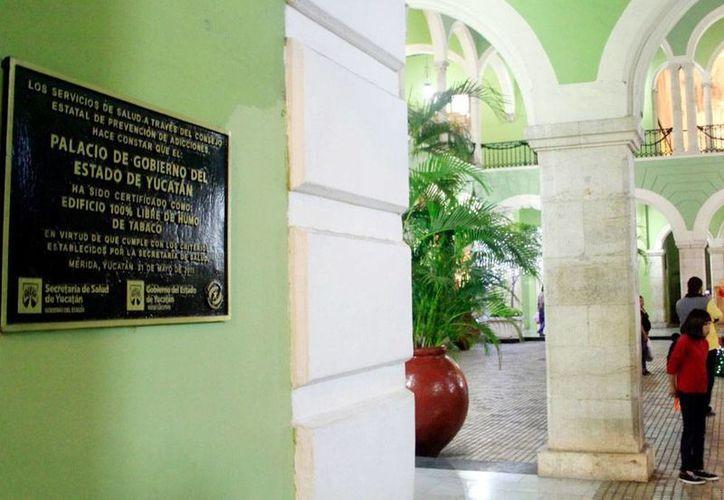 El Gobierno de Yucatán rechazó las acusaciones de medios nacionales e internacionales sobre que es clientes de una empresa que vende software (programa de cómputo) para espionaje. La imagen es del interior del Palacio de Gobierno, y está utilizada únicamente como contexto. (SIPSE)