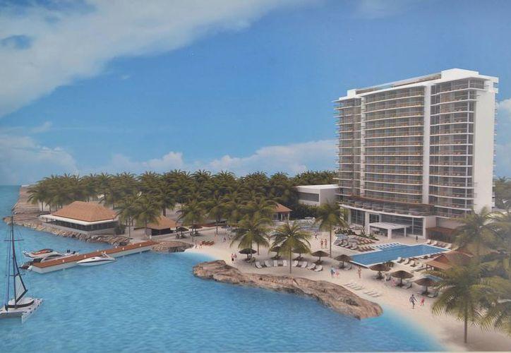 Se prevé que el Westin Cozumel tendrá 15 niveles y 152 habitaciones cuando entre en operación. (Gustavo Villegas/SIPSE)