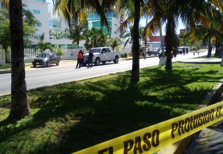 La persecución finalizó en el centro de la ciudad, en la avenida Bonampak. (Eric Galindo/SIPSE)