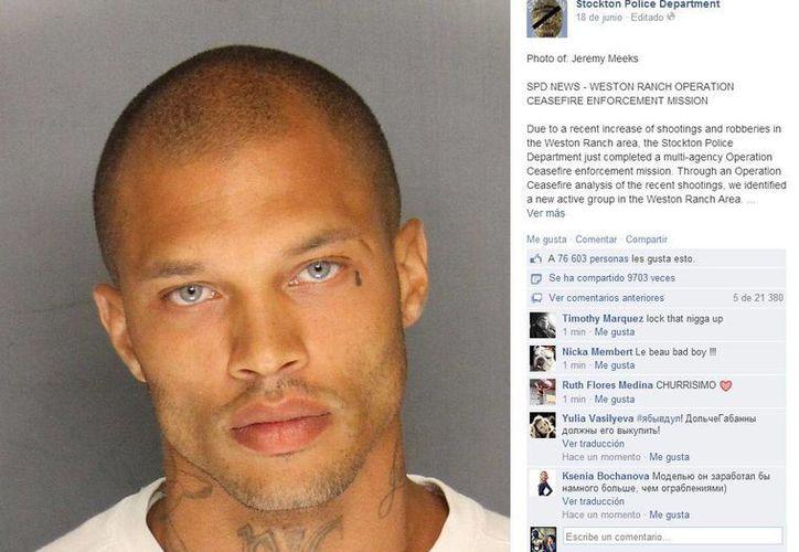 Miles de mujeres han caído rendidas ante la fotografía de Jeremy. (Facebook/Stockton Police Department)