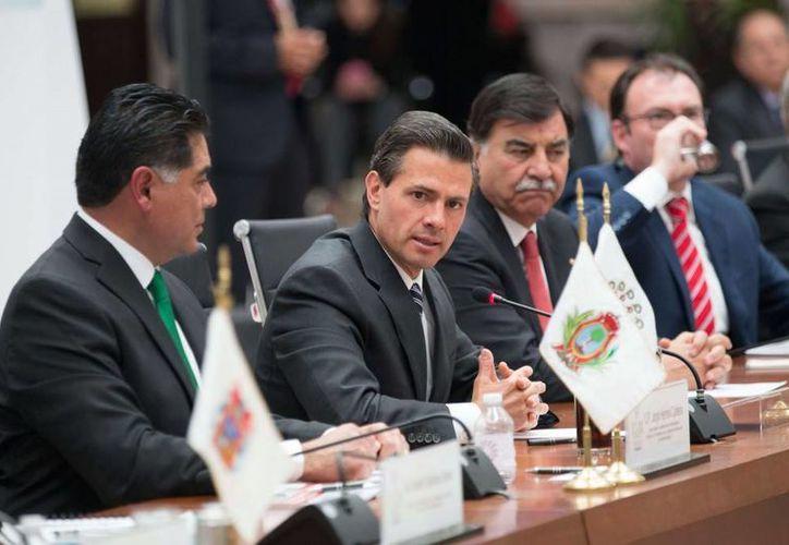 Peña Nieto aseguró que el trabajo conjunto hará que se cumpla la plena vigencia del Estado de derecho. (Presidencia)