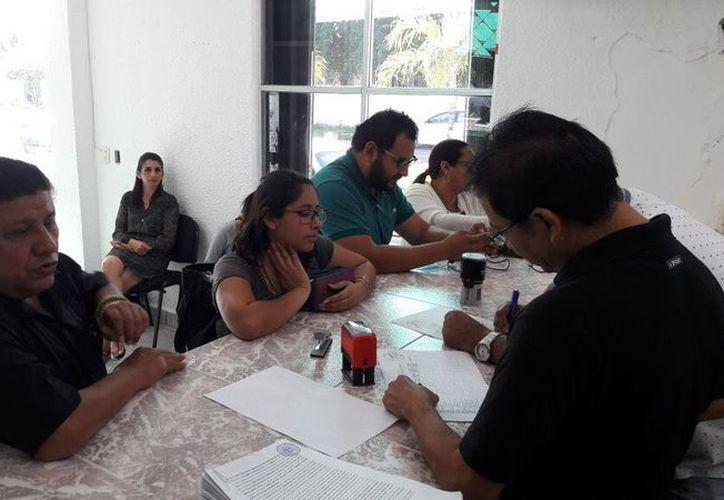 Ahora fueron Javier Antonio Aguilar Duarte y Rodríguez Vázquez Coutiño, uno por Solidaridad y el otro por Benito Juárez. (Joel Zamora/SIPSE)