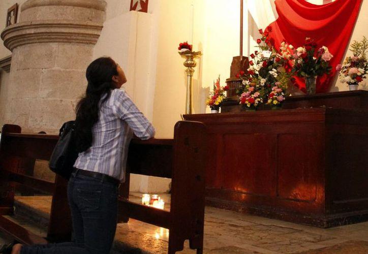 Monseñor Berlie invitó a los fieles a orar por la colecta, que se realizará el domingo 30 de noviembre. (SIPSE)