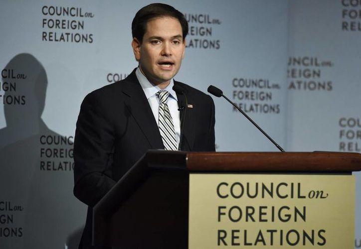 El senador republicano y precandidato presidencial estadounidense Marco Rubio exigió que el narcotraficante mexicano sea juzgado en EU. (EFE/Archivo)
