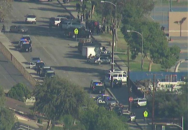 La Policía de Azuza, California, dijo tener pocos detalles sobre el ataque. (Twitter.com/@ABC7)