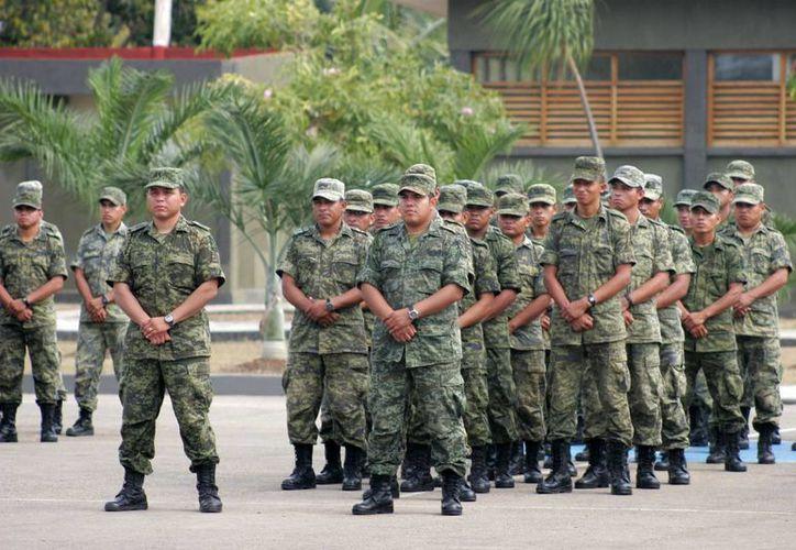Quienes tienen formación militar son directamente incorporados a las direcciones de Seguridad Pública. Imagen de contexto. (Archivo SIPSE)