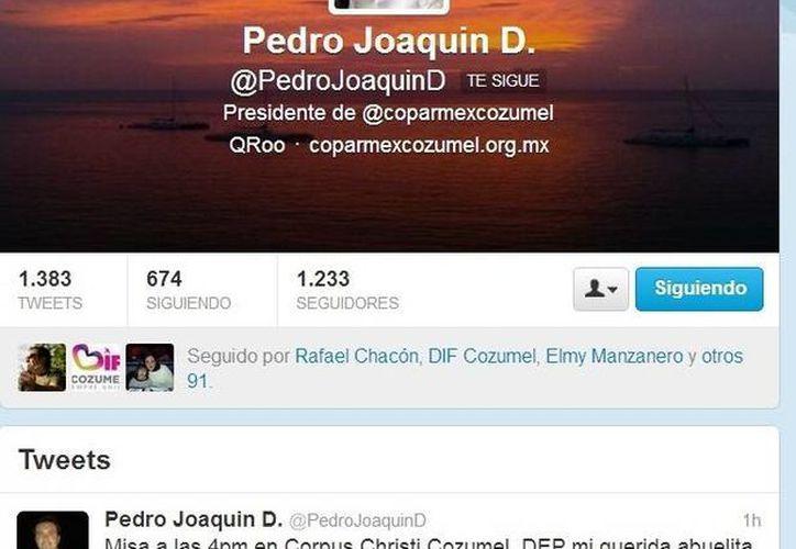 A través de su cuenta de Twitter, Pedro Joaquin Delbouis, nieto de Miguelina Coldwell, anunció que se realizará una misa. (Captura de Pantalla)