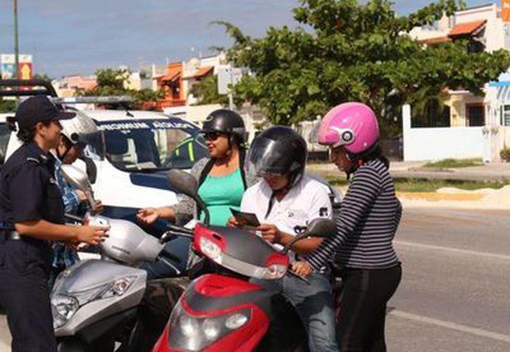 Seguridad Pública realiza operativos para recuperar motocicletas robadas. (Adrián Barreto/SIPSE)