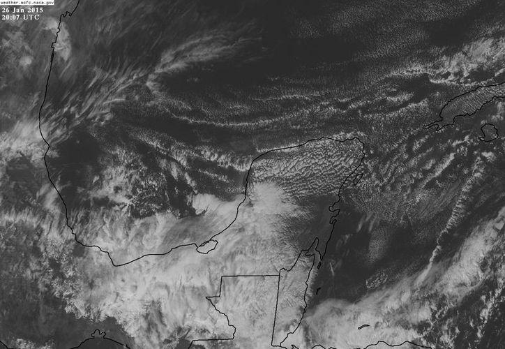 La masa de aire gélido se ha reforzado y afectará a Yucatán varios días más. (Conagua)
