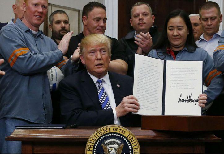Trump exentó a México y Canadá, debido a la renegociación del Tratado de Libre Comercio de América del Norte. (Foto: El Financiero)