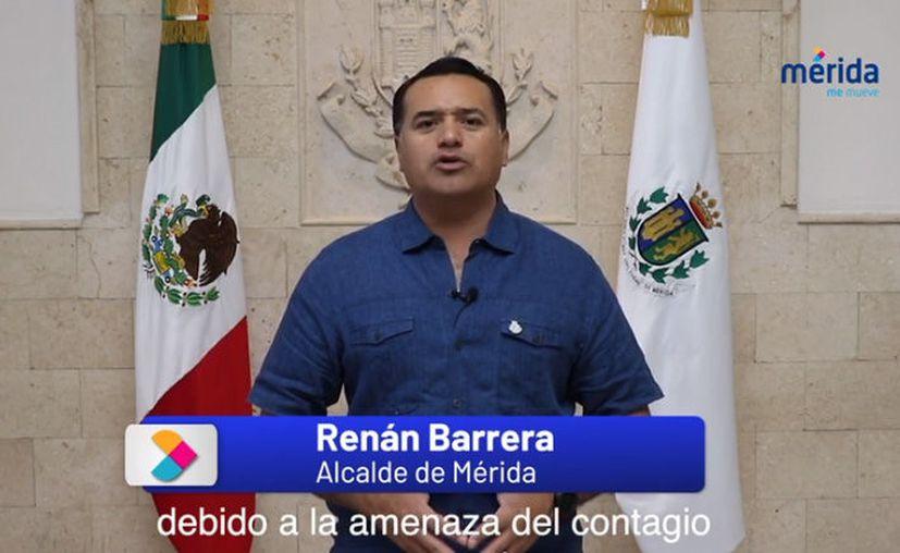 El alcalde dio su mensaje a través de redes sociales. (Especial)