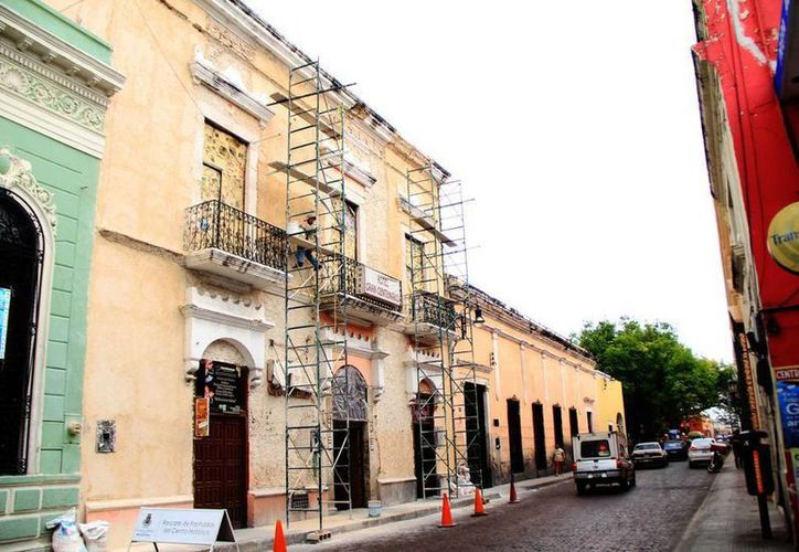 Reportan avance en el Programa de Atención de Predios en Situación de Riesgo en Mérida, pues ya se intervino en algunos edificios. (SIPSE)