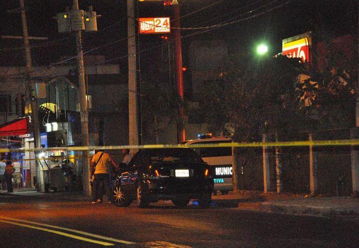 Dos personas resultaron heridas de bala en la Ruta 5 de Cancún la noche del miércoles. (Redacción/SIPSE)