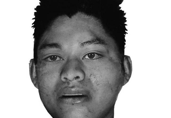 La víctima es un joven de entre 25 y 30 años de edad; estatura, 1.66 metros; peso, 75 kilos; tez morena; cabello lacio, castaño oscuro. (Cortesía Pgjdf)