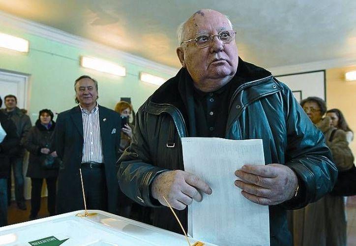 El ex líder soviético comentó que 'esperan en vano' los que desean su muerte. (Agencias)