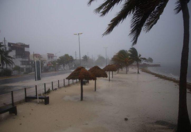 En los puertos de Cancún e Isla Mujeres las actividades quedaron suspendidas debido al temporal. (Israel Leal/SIPSE)