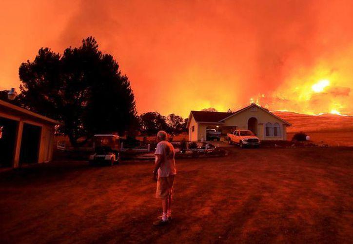 Los incendios que ahora se registran en California no solo son de grandes dimensiones, sino que no suelen ocurrir en julio sino hasta agosto o septiembre.  (Foto: AP)