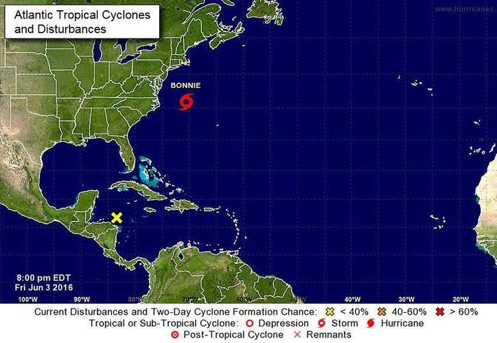 El Servicio Meteorológico Nacional emitió hoy el aviso de la posible formación del primer ciclón tropical de la temporada que amenaza a Q. Roo. (Conagua)