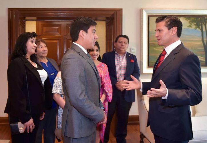 Yair es el mexicano más joven en trabajar para la NASA. (Presidencia)