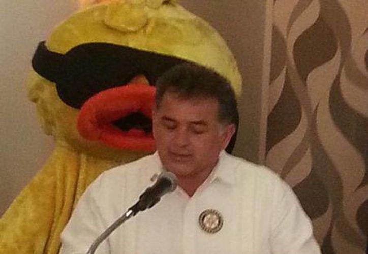 Fredi Coral Sabido, durante el anuncio del evento. (tomada de Facebook)