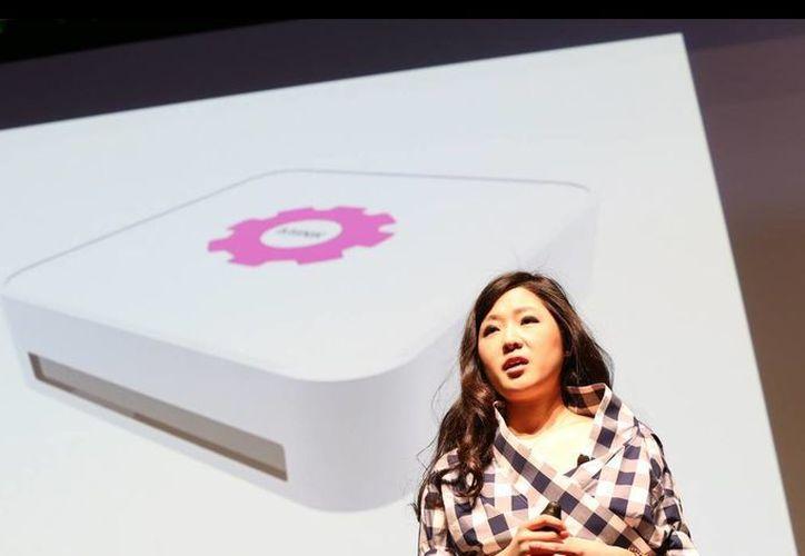 Grace Choi durante la demostración de Mink en la 'TechCrunch Disrupt' en Nueva York. (techcrunch.com)