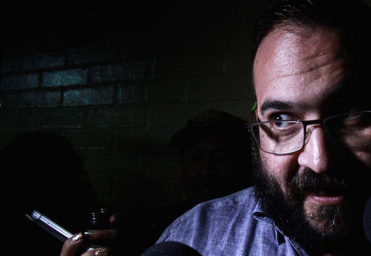 Javier Duarte dio una 'extraña' declaración a los medios al salir de su tercera audiencia hoy en Guatemala. (Cuartoscuro)