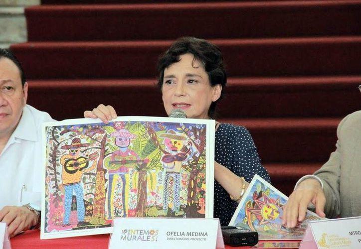 Ofelia Medina durante durante la rueda de prensa. (Milenio Novedades)