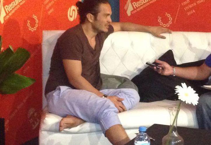 El actor Kuno Becker habla sobre la experiencia que tuvo con la cinta de terror y suspenso (Luis Ballesteros/SIPSE)