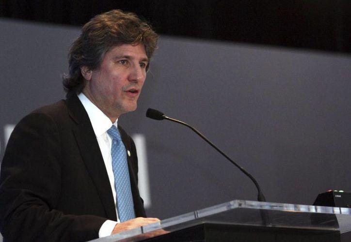 Imagen del vicepresidente de Argentina, Amado Boudou, a quien un juez local le elevó este jueves a juicio oral la causa por la presunta falsificación de un documento público. (Archivo/EFE)