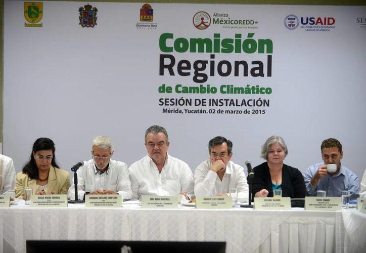 Instalación en Mérida de la Comisión Regional de Cambio Climático de la Península de Yucatán. (Milenio Novedades)