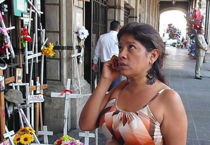 Ana Luisa Garduño acudió a Jalisco, donde presuntamente se encuentra el asesino de su hija. (David Monroy/Milenio)