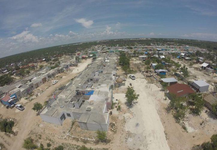 La zona invadida conocida como In House cumplió en agosto un año de ocupada. (Israel Leal/SIPSE)