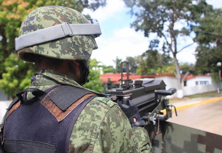 La infiltración del crimen organizado en las fuerzas castrenses, le hace mucho daño al Ejército. (Ernesto Neveu/SIPSE)