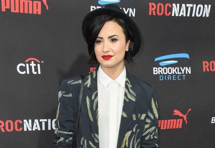 Demi Lovato lanzó la campaña 'Be Vocal: Speak Up For Mental Health', en pro de la salud mental. (The Associated Press)