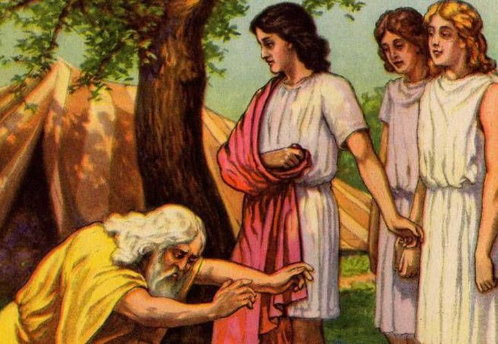 Abraham vio en aquellos tres huéspedes un signo de la Providencia. (parashot.blogspot.com)