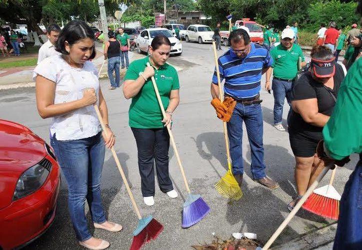 Implementarán jornadas de limpieza en las colonias. (Cortesía/SIPSE)