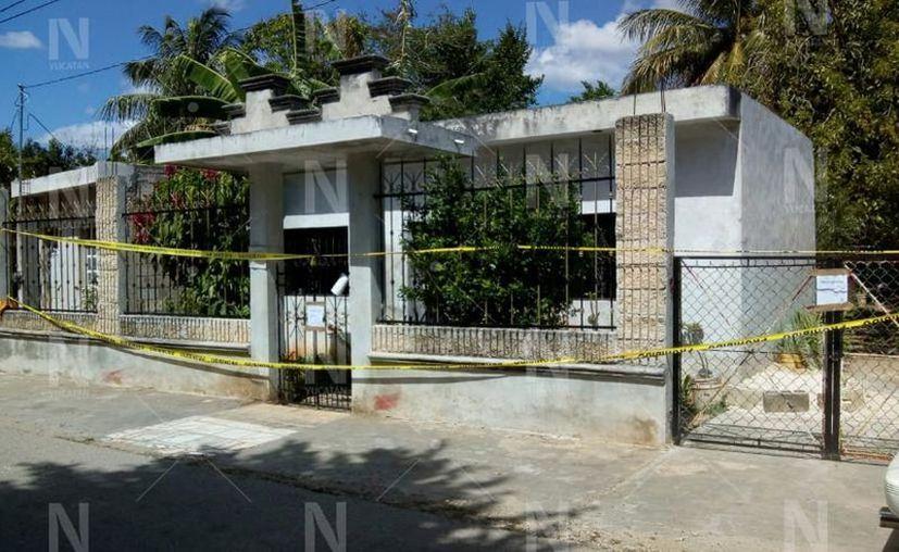 La casa de la tragedia en Hoctún. (Novedades Yucatán)