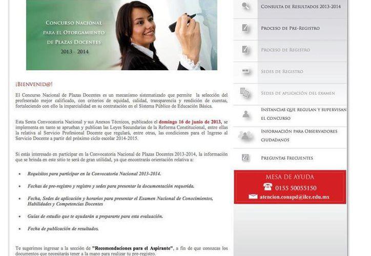 La convocatoria se publicó vía Internet a través de la página de la SEP. (Jesús Tijerina/SIPSE)