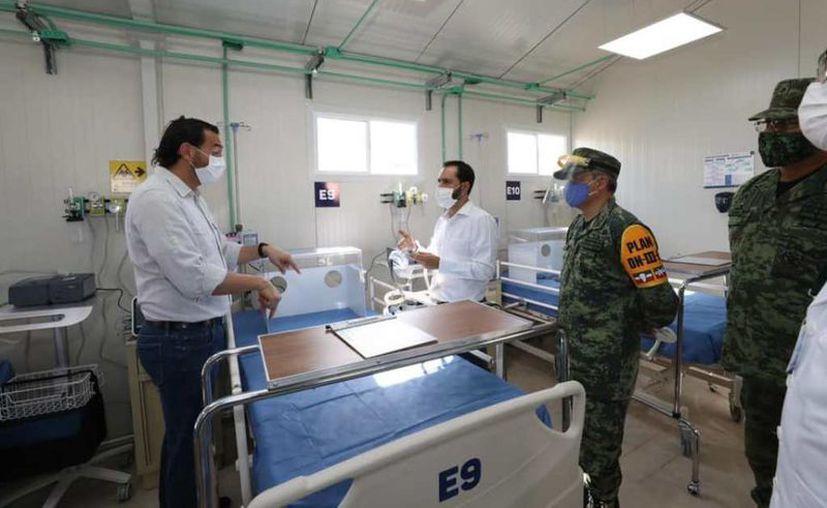 Hace unos momentos el gobernador Mauricio Vila Dosal informó que ya está en funciones el Hospital Provisional de Valladolid. (Novedades Yucatán)