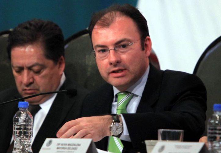 Luis Videgaray, secretario de Hacienda, aboga por más gasto en educación. (Agencia Reforma)