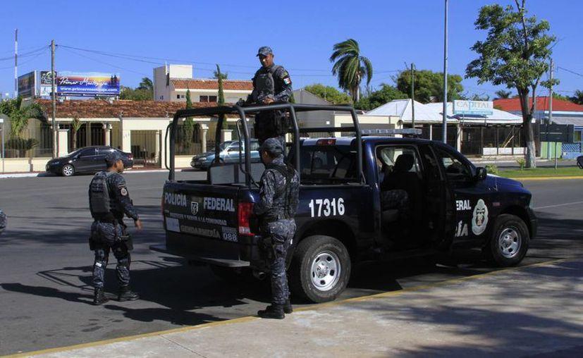 La Gendarmería Nacional llegó a Calderitas. (Redacción/SIPSE)