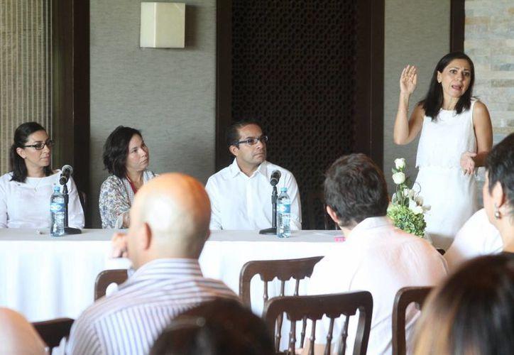 La presentación del V Congreso Latinoamericano de Bodas y Eventos Especiales, que se realizará en Mérida del del 21 al 23 de julio. (SIPSE)